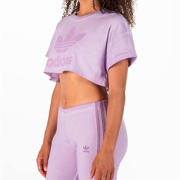 familia real Esquivo aves de corral  adidas Pants & Jumpsuits   Adidas Lilac Set Leggingstop   Poshmark
